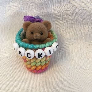 JACKIE personalized bear pin-NEW